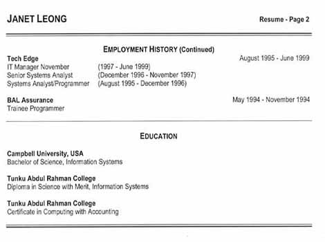 Free Resume Samples: An Effective Functional Resume